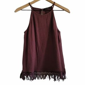 DOE & RAE BOHO FRINGED TANK